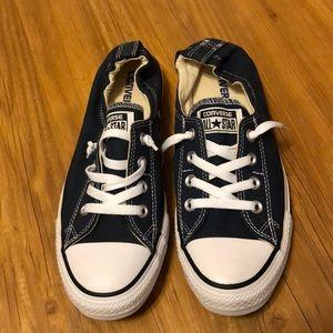 Navy converse slip on sneakers